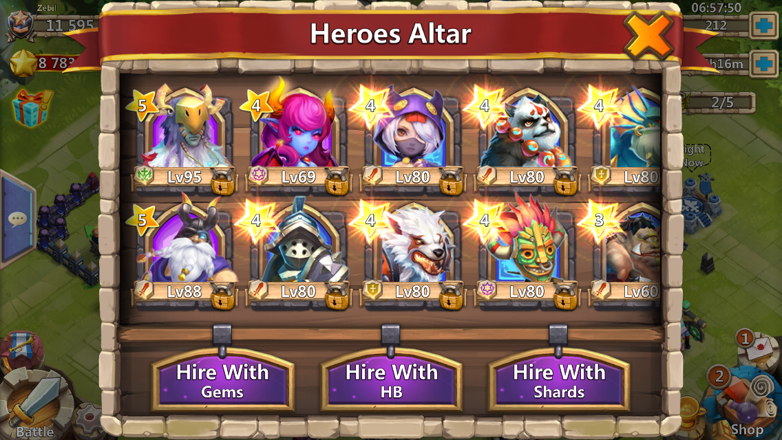 Each hero in Castle Clash has different abilities.